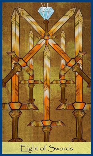 Miekkojen 8 - Eight of Swords - Rajatieto - Tajunnanvirta